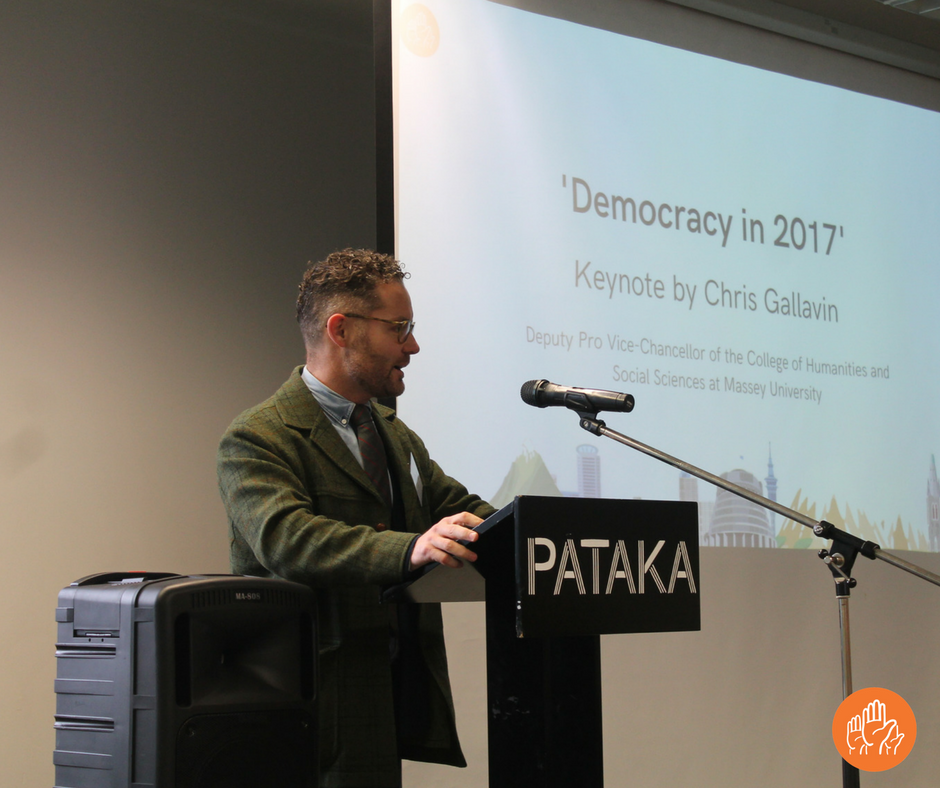 Professor Chris Gallavin, Deputy Pro-Vice Chancellor Humanities and Social Sciences at Massey University, talking about the political landscape in 2017.