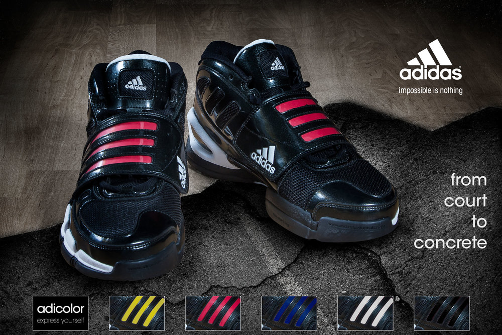 "Project   Advertising concepts   Adidas Pro   ""From Court to Concrete"""