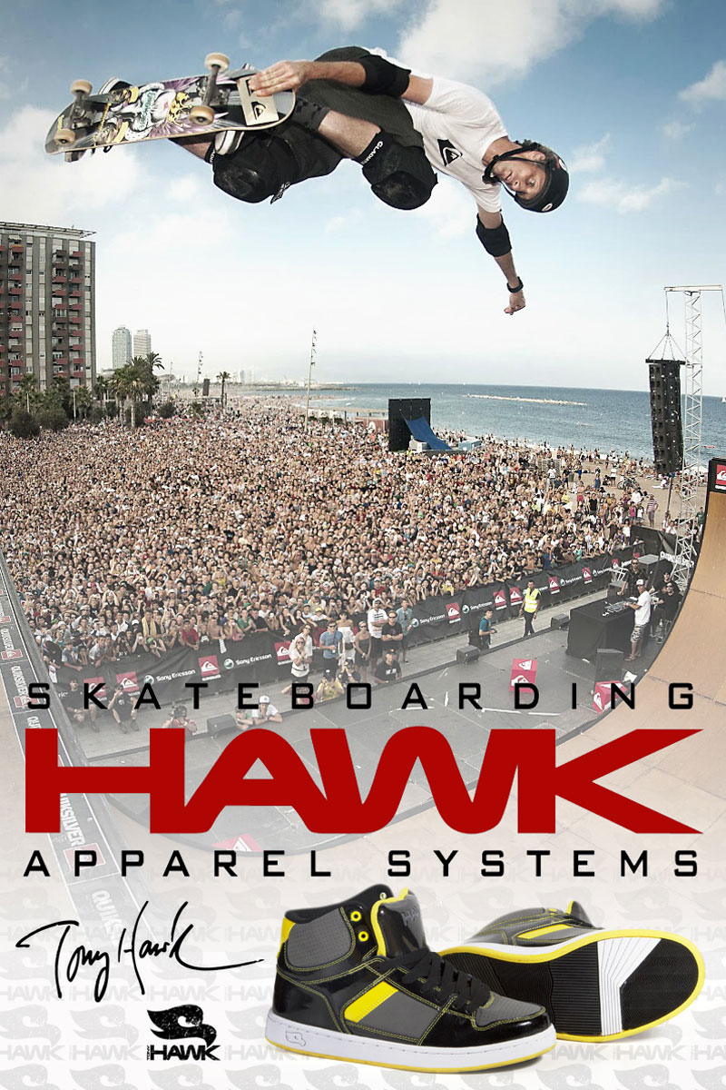 Project   Advertising concepts   Tony Hawk   Signature Line