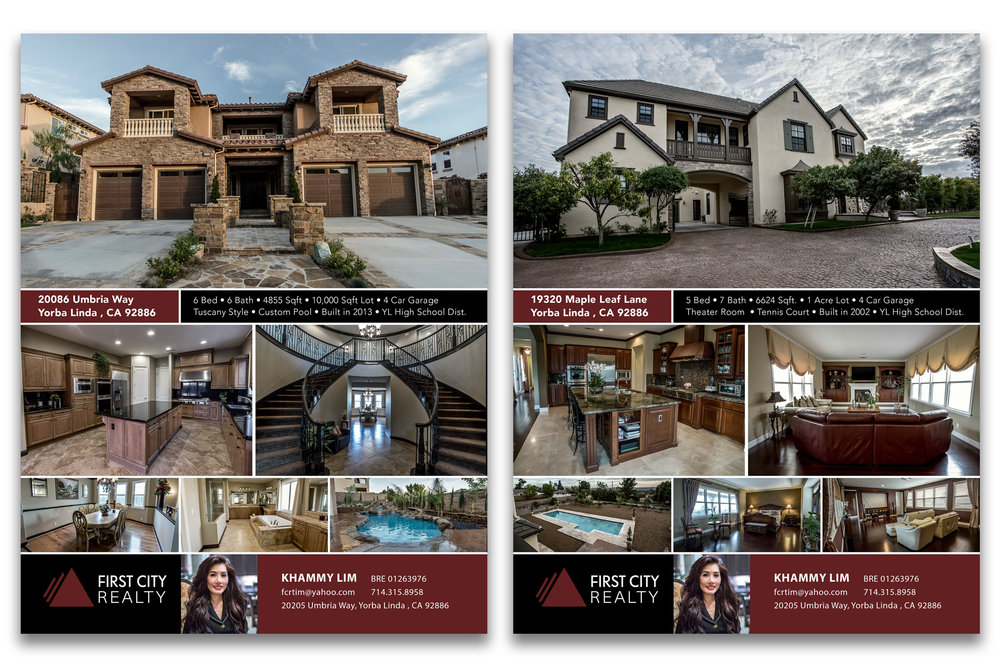 Client   First City Realty  Real Estate Flyers and Photography