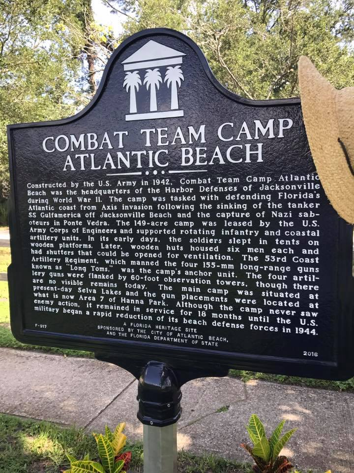 You've probably seen this sign. Combat Team Camp in Atlantic Beach was the headquarters for Harbor Defenses in World War II.