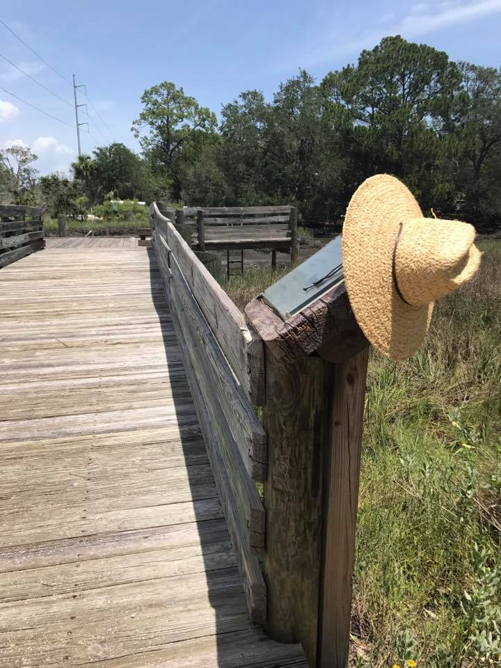 Canoe/kayak launch at Tide Views Preserve. Give paddling the Intracoastal Salt Marsh a try. This is a marked paddle trail with two launch points in Atlantic Beach. Here and Dutton Island.