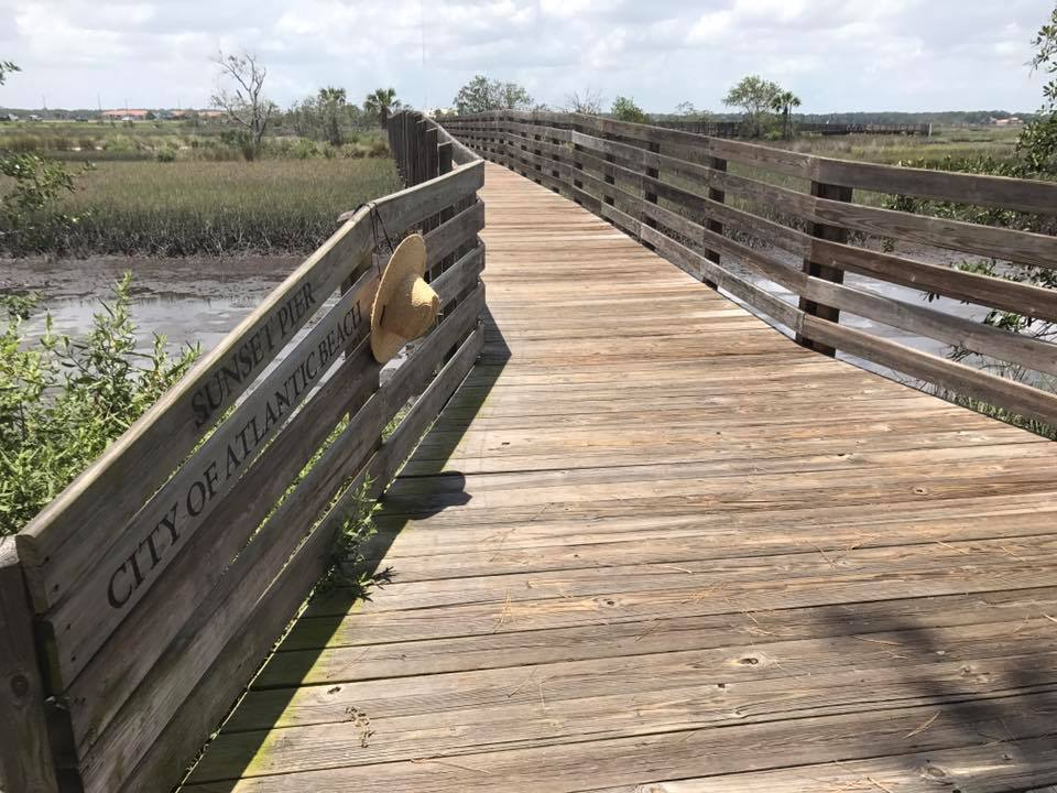 Sunset Pier at Tide Views Preserve offers the most beautiful setting sun views imaginable. Come see for yourself. This preserve was established in the memory of Carl E. Walker.