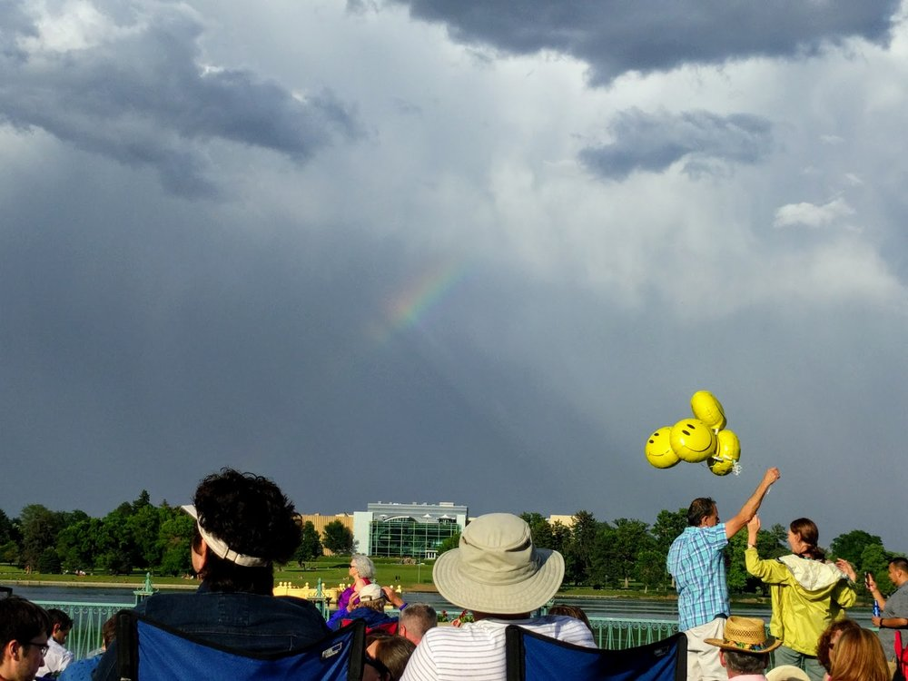 June 2016. City Park, Denver, Colorado. Every summer Sunday, Denver and suburbs get together for a giant picnic. Rain often joins us, too.
