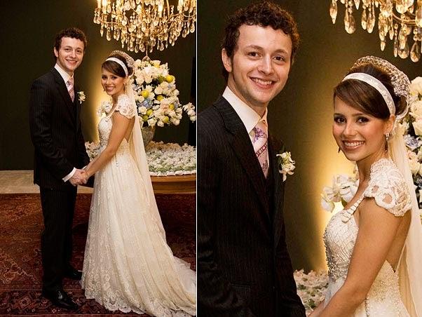 Casamento de Sandy, em 2008, com beleza assinada por Henrique!