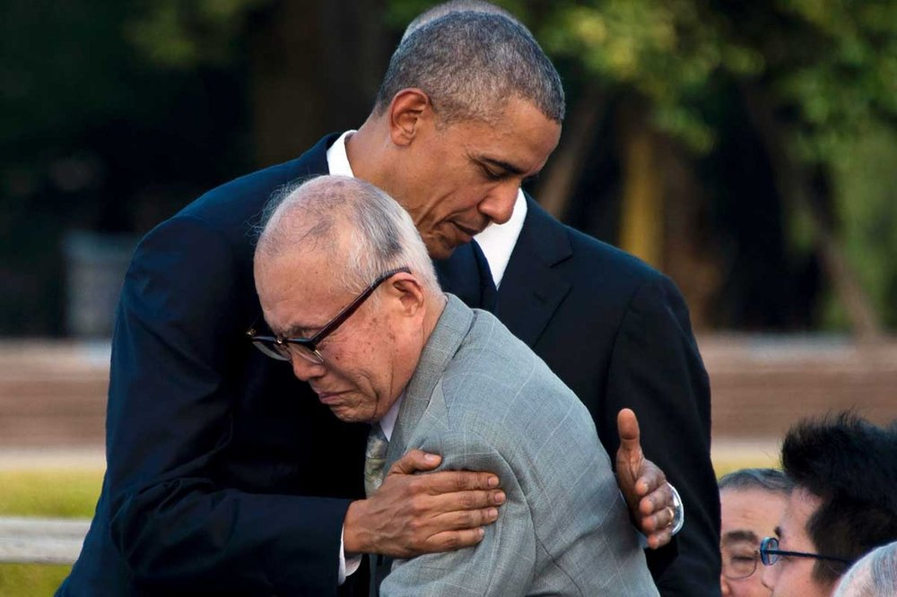 Obama embraces Mr. Mori