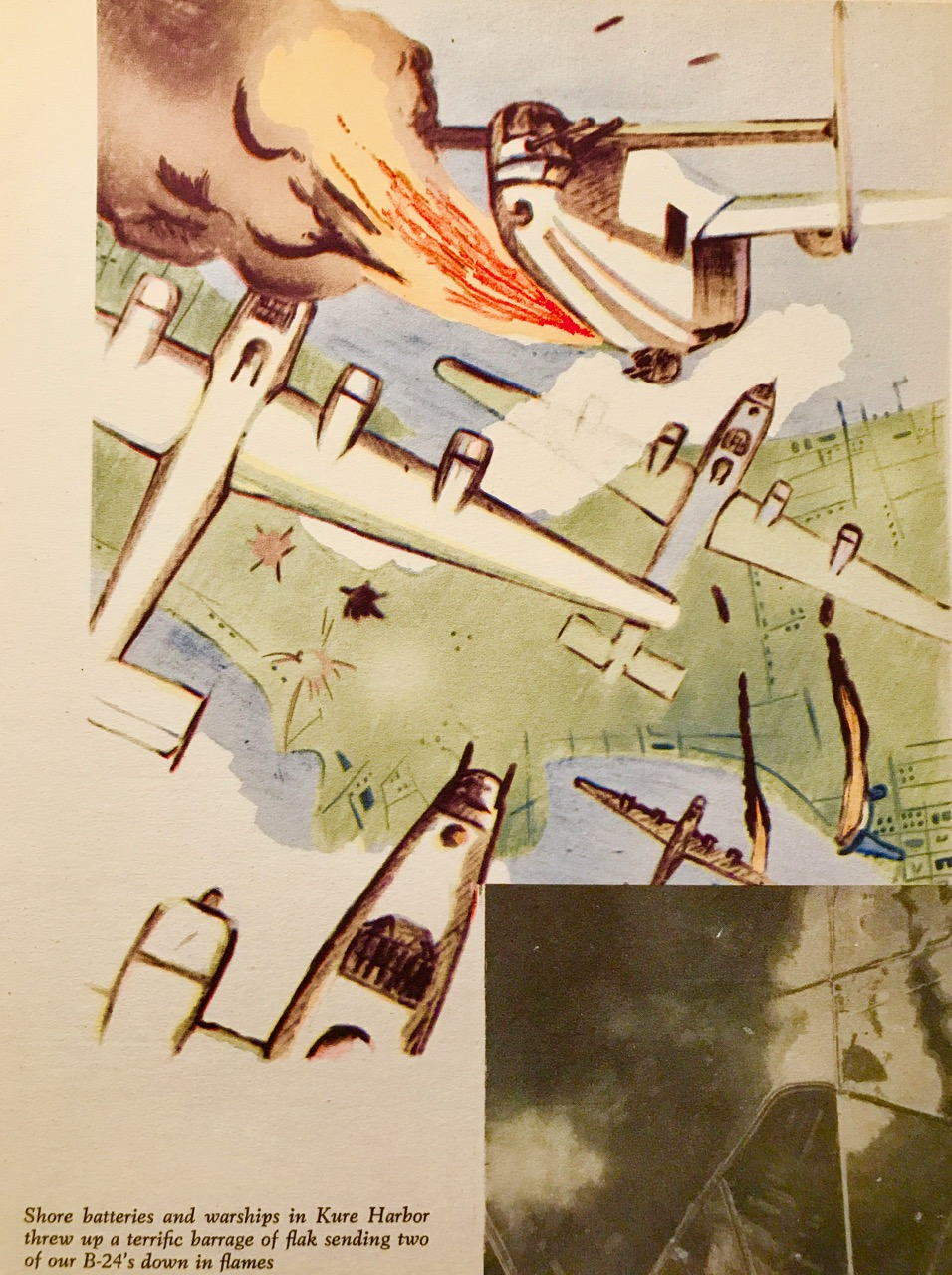 Artwork from Briton Martin's  Kelley's Kobras: 494th Group History , 1947. The artist is unidentified but may have been a pilot in the 866th Squadron, Gareth Williams.