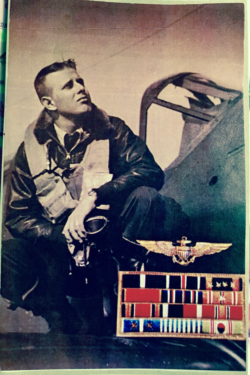 Paul Brehm was a USN VB-87 Bombing Squadron pilot in BuNo #206 during the attack on the   Hyuga  on 24 July, 1945,  ditched it, survived, then flew#205 to dive-bomb  the   Tone  on 28 July, 1945 . (Image courtesy of S. Mori)