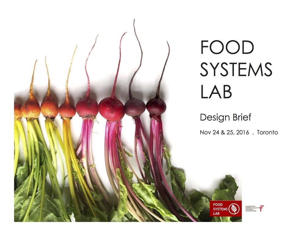Food Systems Lab Design Brief