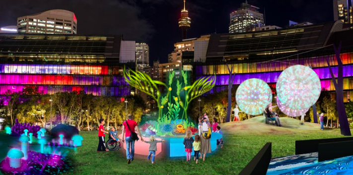 Tumbling Lights - A Magical Inclusive Playground by Cushman & Wakefield, Access and Inclusion Sponsors of VIVID Sydney.