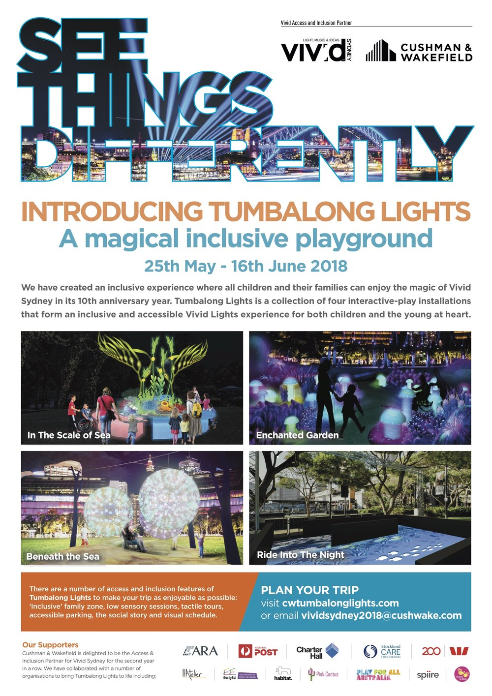 Tumbalong Lights 2018 by Cushman & Wakefield