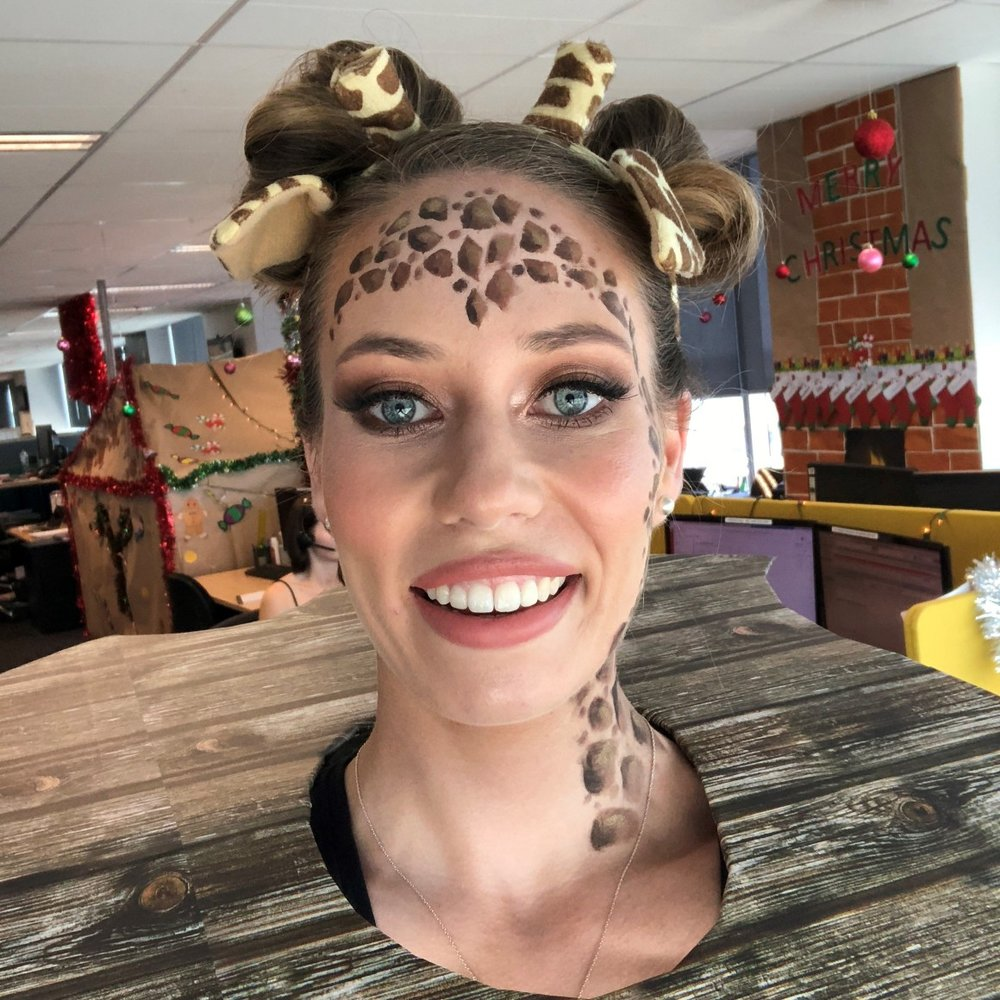 Jumanji Themed Hair and Makeup