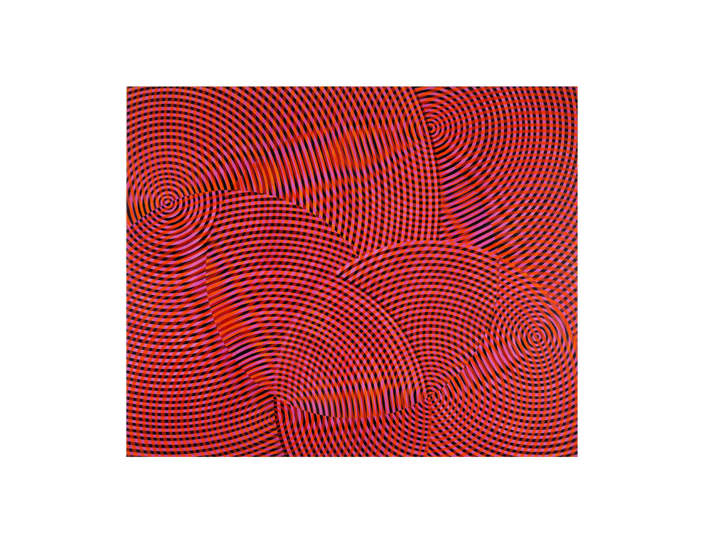 John Aslanidis   Sonic no.59 , 2017 oil and acrylic on canvas 137 x 168cm   ARTIST BIO