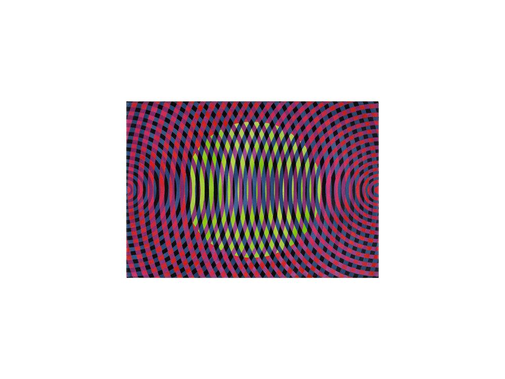 John Aslanidis   Sonic fragment no.51 , 2017 oil and acrylic on canvas 46 x 66cm