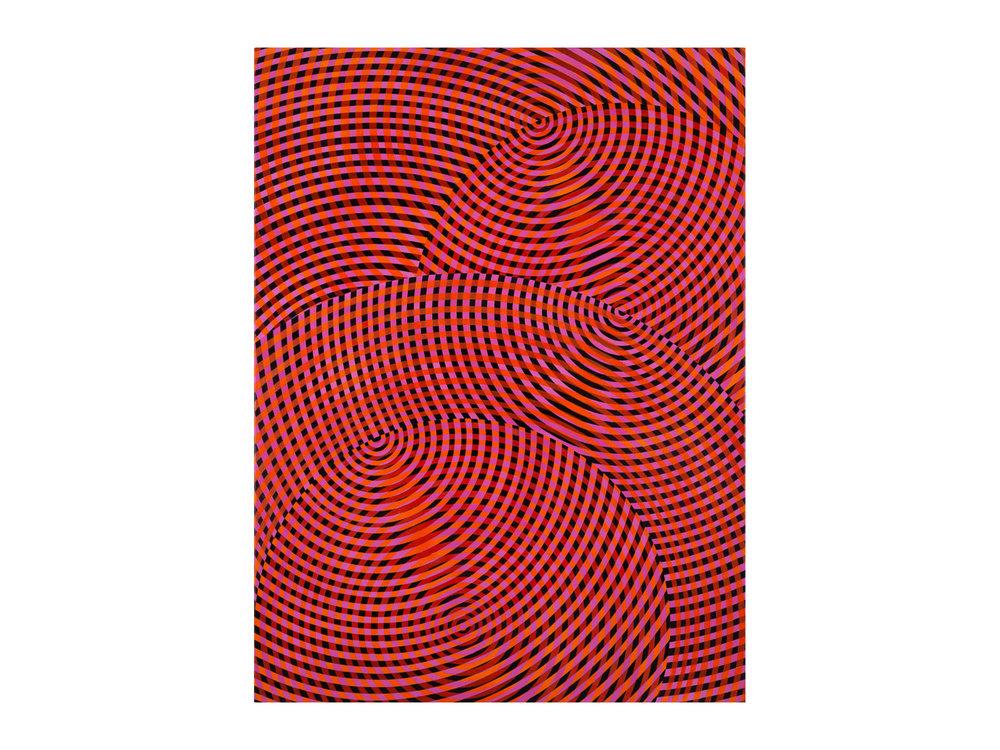 John Aslanidis   Sonic no.57 , 2017 oil and acrylic on canvas 133 x 92cm