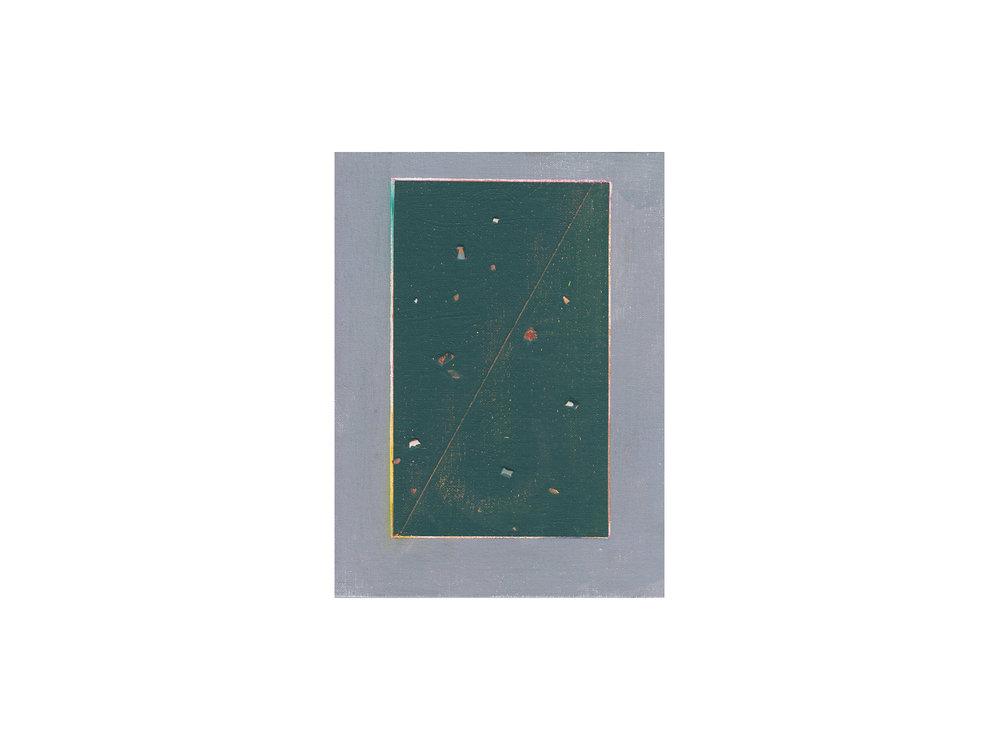 "Tom Vincent   ""IVM Reduction"", 2016, acrylic, selenite, aerosol and coloured pencil on board, 30 x 23cm   ARTIST BIO"