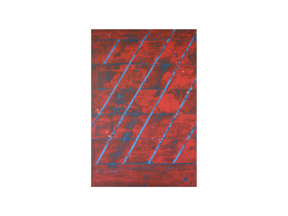 "Tom Vincent    ""Univers(al) Grid"", 2016, acrylic, selenite, paper and aerosol on board, 90 x 60cm   ARTIST BIO"
