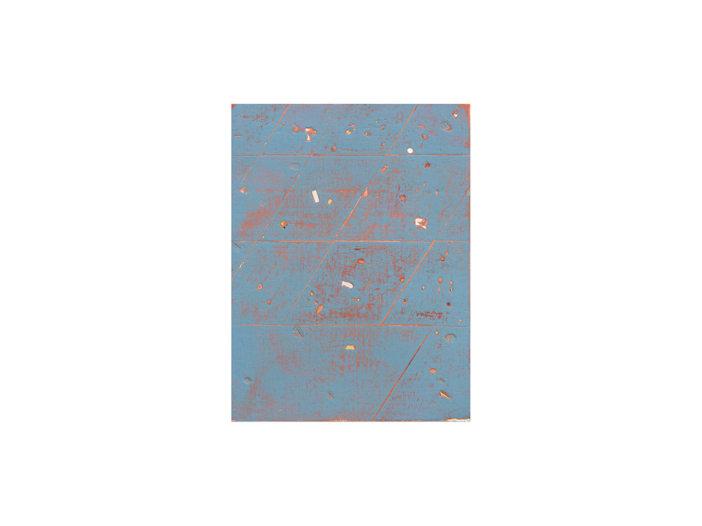 Tom Vincent   Universe test I , 2016 acrylic and selenite on board 30 x 23cm   ARTIST BIO