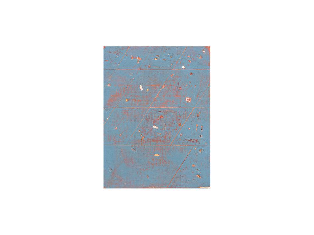 "Tom Vincent   ""Universe test I"", 2016, acrylic and selenite on board, 30 x 23cm   ARTIST BIO"
