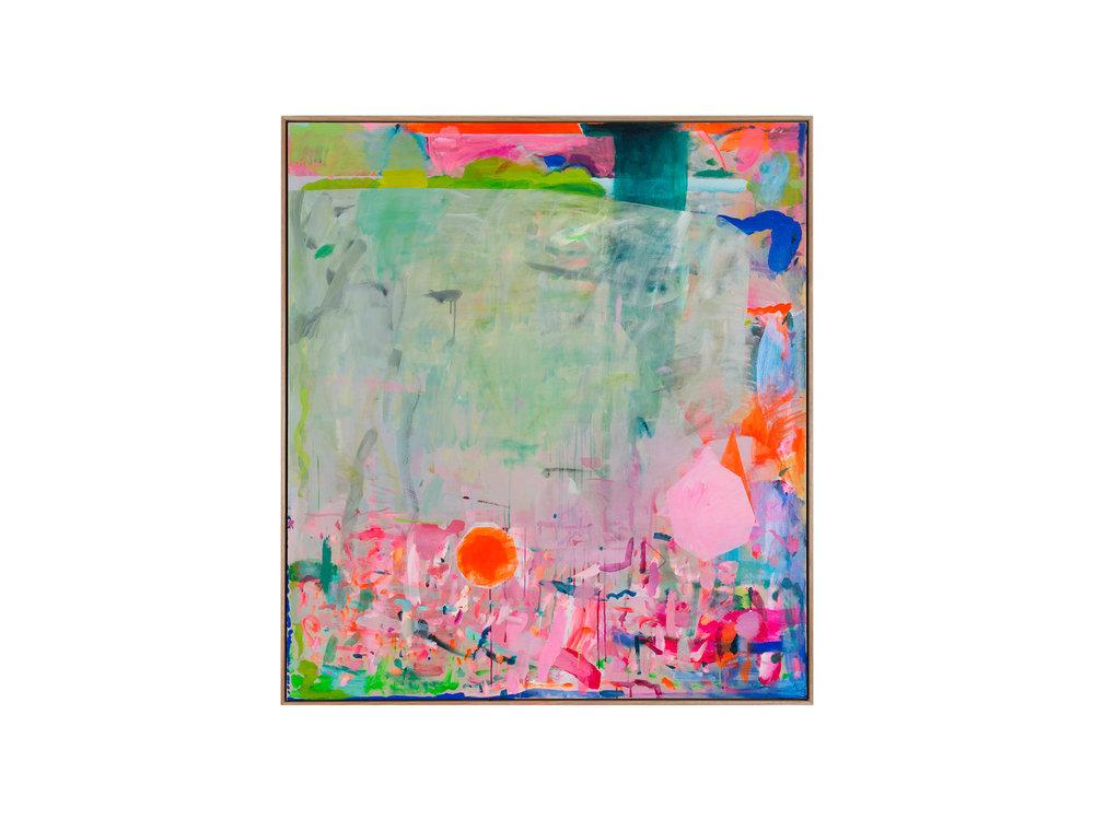 "Miranda Skoczek   ""Fragments"", 2016 Oil and Acrylic on Linen, 153 x 137 cm   ARTIST BIO"