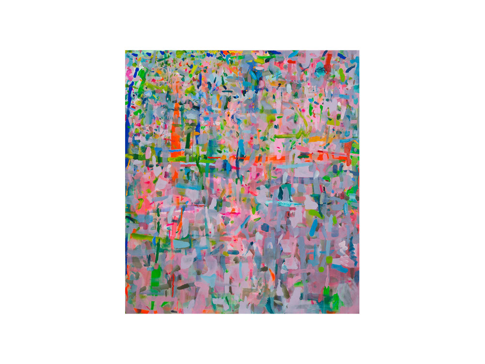 "Miranda Skoczek   ""Bloom"", 2015/16, Oil and Acrylic on Linen, 153 x 141 cm   ARTIST BIO"