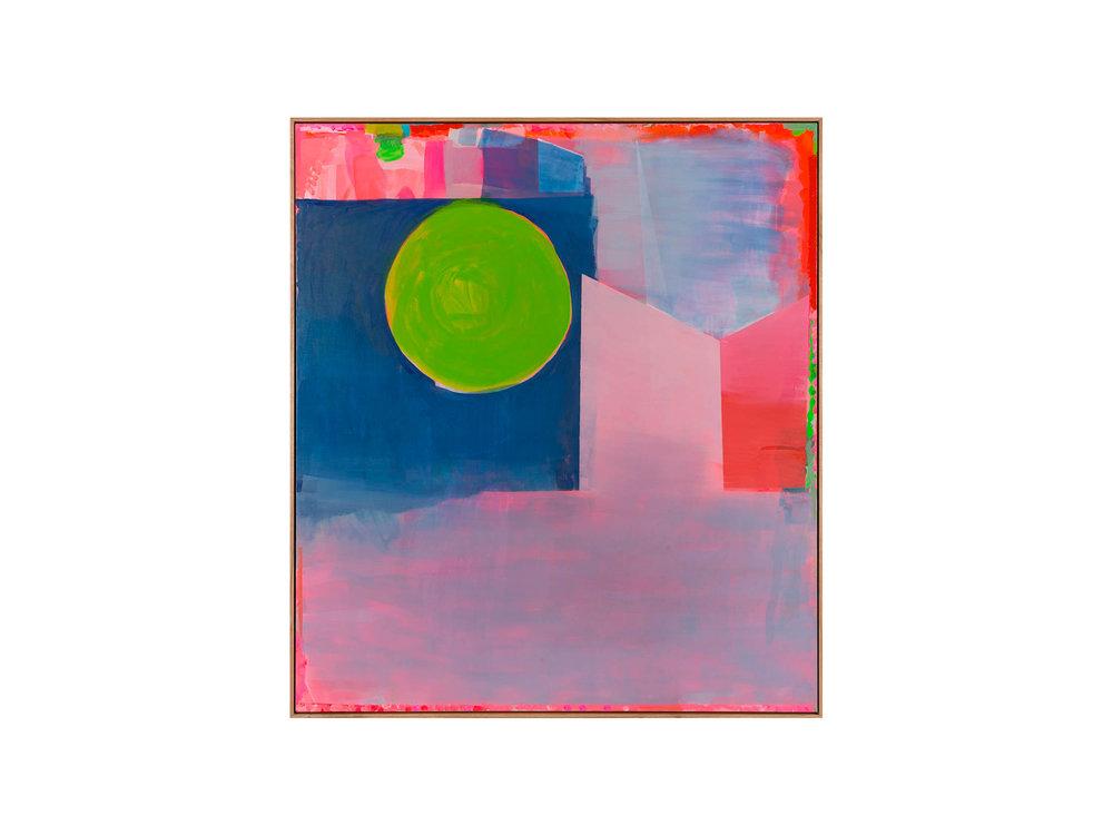 "Miranda Skoczek   ""Disc"", 2016, Oil and Arcylic on Linen, 156 x 141 cm  ARTIST BIO"