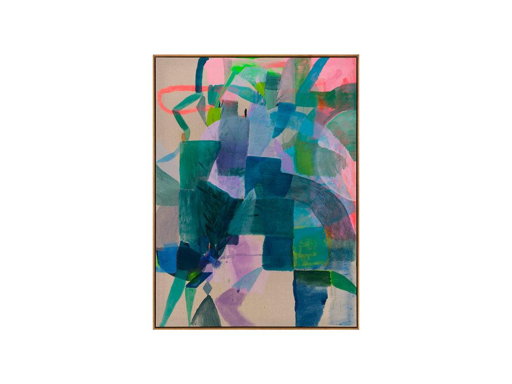 "Miranda Skoczek   ""Ode to Delaunay"", Oil and Acrylic on Linen 125 x 95 cm   ARTIST BIO"