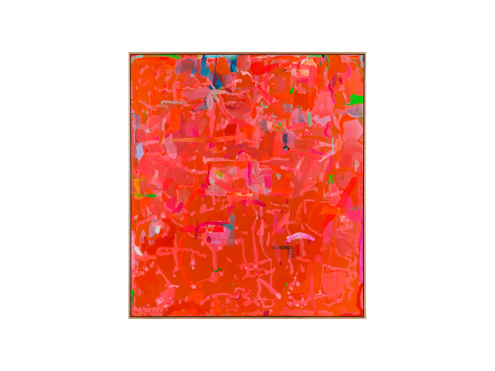 "Miranda Skoczek   ""Kaleidoscopic Light"", 2015/16 Oil, Acrylic and Enamel spray on Linen 156 x 141 cm   ARTIST BIO"