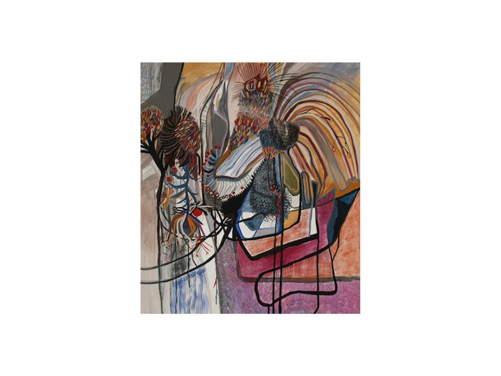 Mary Barton   Machine Leverage , 2016 oil on canvas 36.5 x 36.5 cm   ARTIST BIO