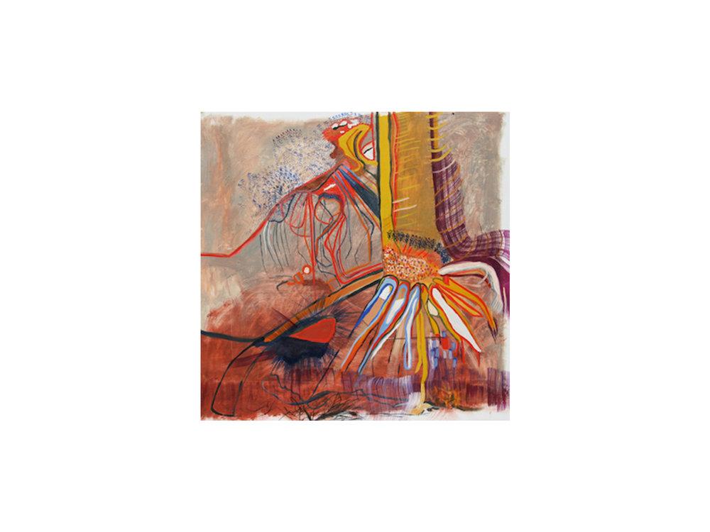 Mary Barton   Creeping River Trees , 2016 oil on canvas 100 x 100 cm   ARTIST BIO