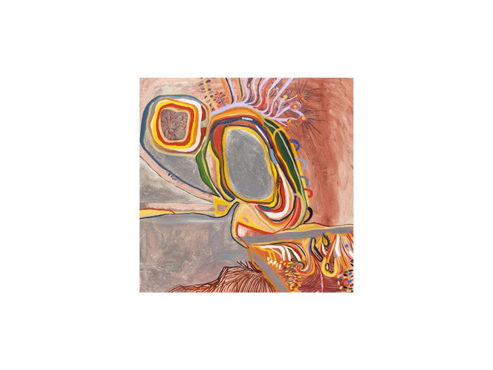 Mary Barton   Ee waa creek Pee waa creek , 2015 oil pigments on canvas 100 x 100 cm   ARTIST BIO