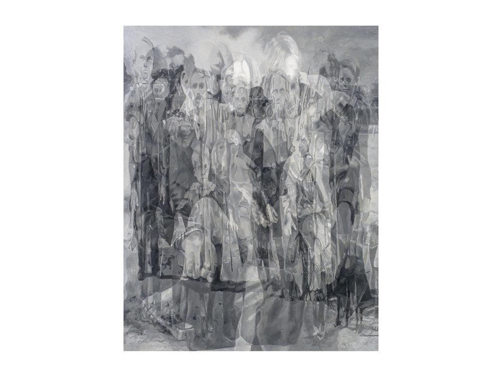 "Julie Fragar    ""Intergenerational (Fraga/Fragar)"", 2016, oil on board, 92 x 72cm   ARTIST BIO"