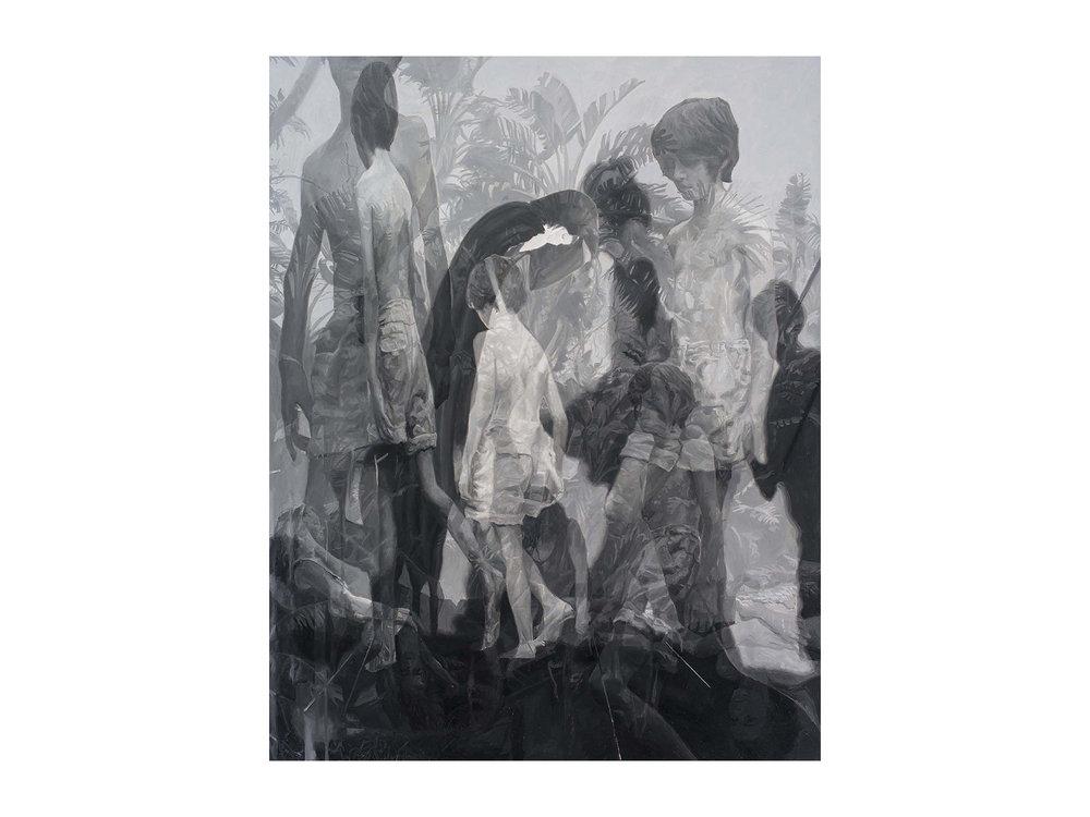 "Julie Fragar    ""Fade to Australia (Hugo and Antonio)"", 2016, oil on board, 92 x 72cm   ARTIST BIO"