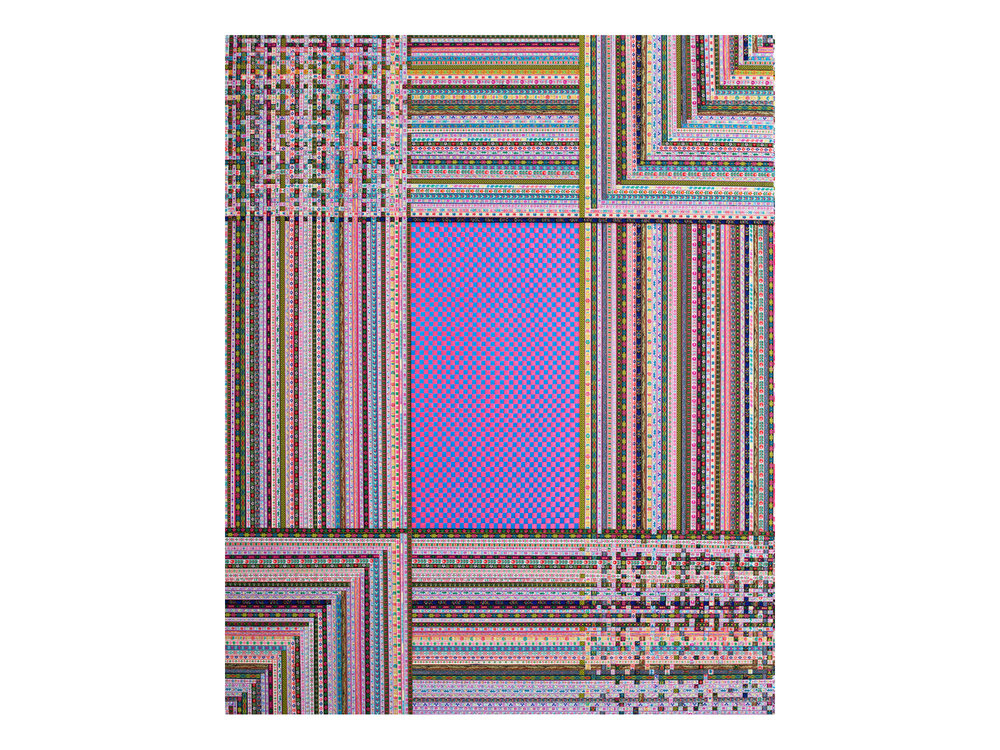 "Dandan Dai   ""Braid 4"", 2012, ribbon, 150 x 120cm  ARTIST BIO"