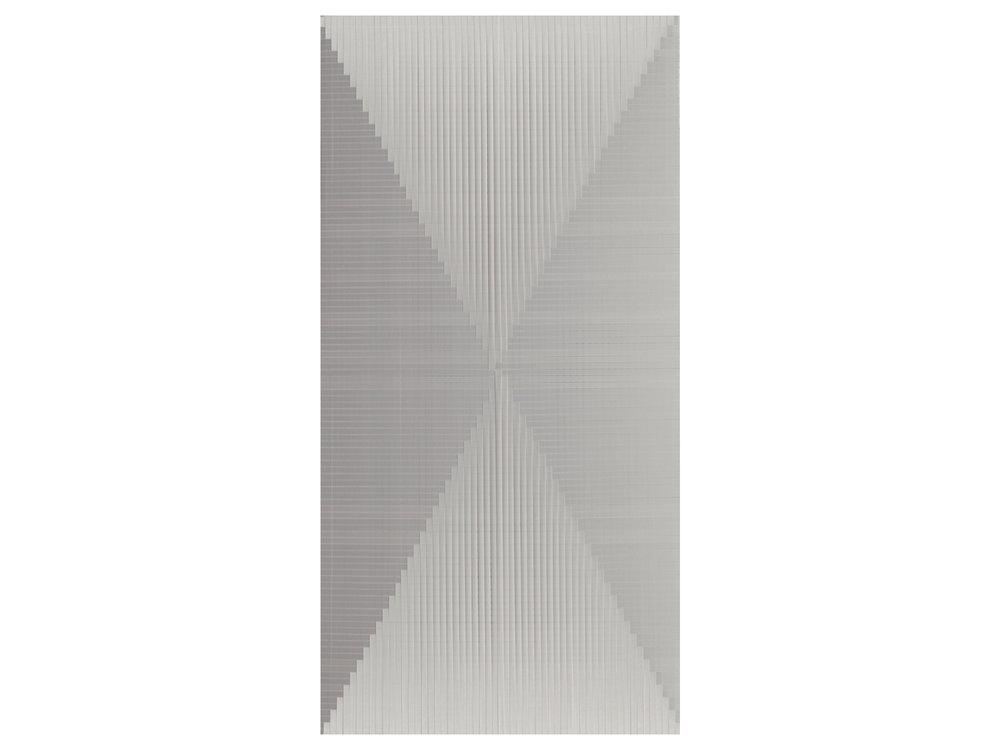 """Dandan Dai   """"Plain 1"""", 2014, ribbon, 120 x 60cm   ARTIST BIO"""