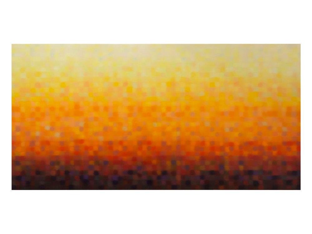 """Matthew Johnson   """"Immersion (Sun)2014 oil on linen 1200 x 2400 mm  ARTIST BIO"""
