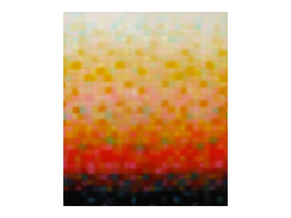 "Matthew Johnson    ""Stratum Glow II"", 2014  Oil on linen 130 x 110 mm   ARTIST BIO"