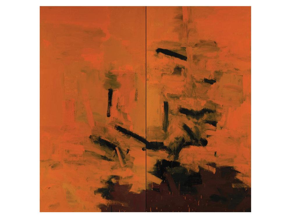 "James Claydon   ""Gardens"", 2016, enamel on canvas, 240 x 240 cm   ARTIST BIO"