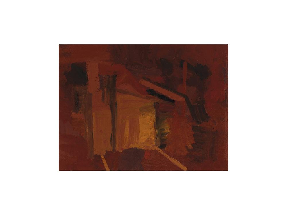 "James Claydon   ""Street"", 2016, enamel on canvas, 46 x 61 cm   ARTIST BIO"