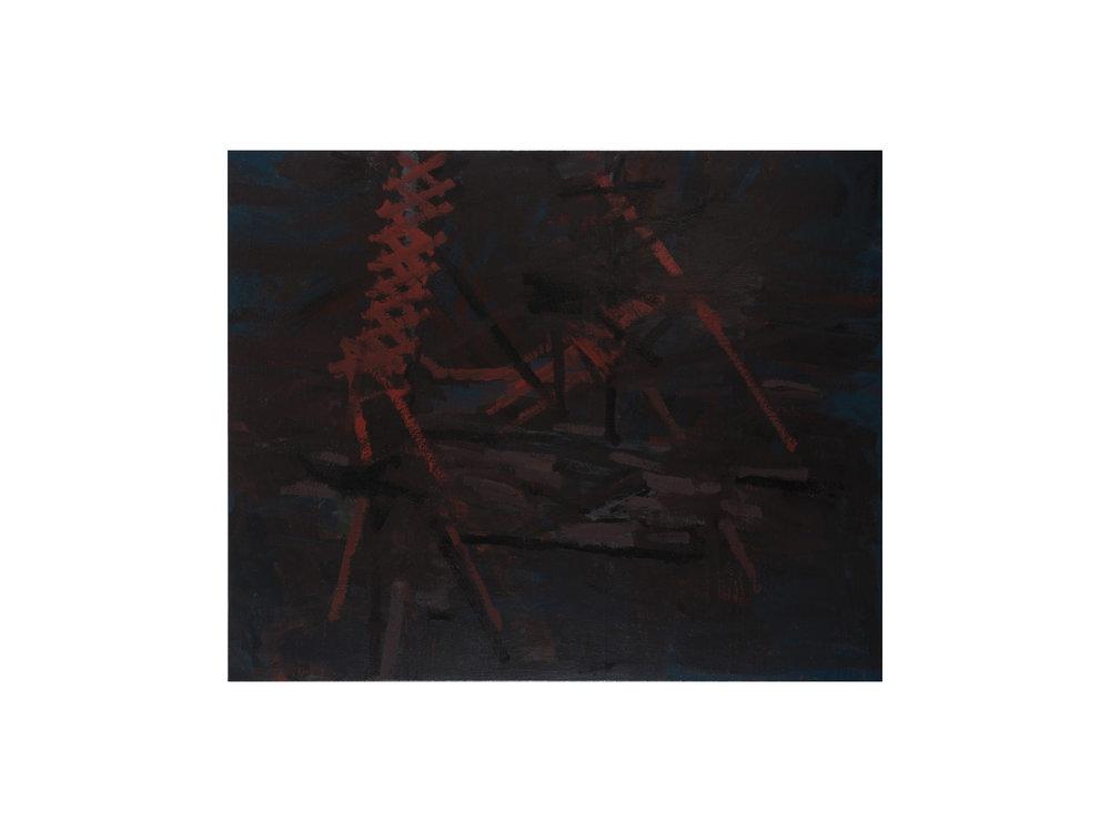 "James Claydon   ""Bridge"", 2016, enamel on canvas, 112 x 137 cm   ARTIST BIO"