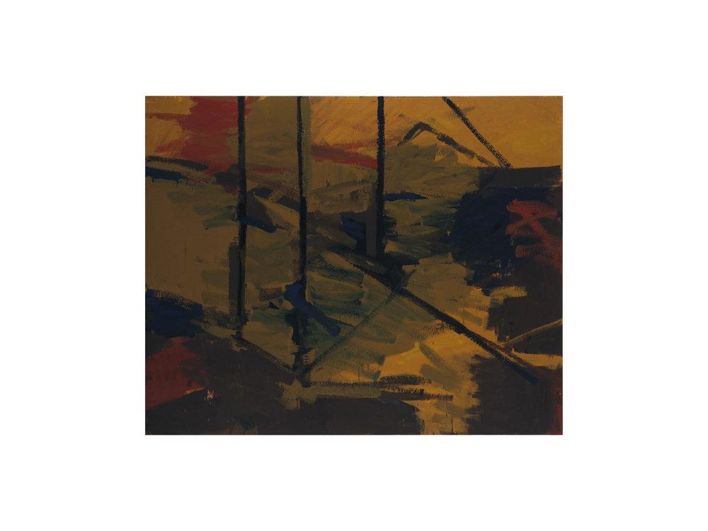 "James Claydon   ""Works"", 2016, enamel on canvas, 122 x 152 cm   ARTIST BIO"