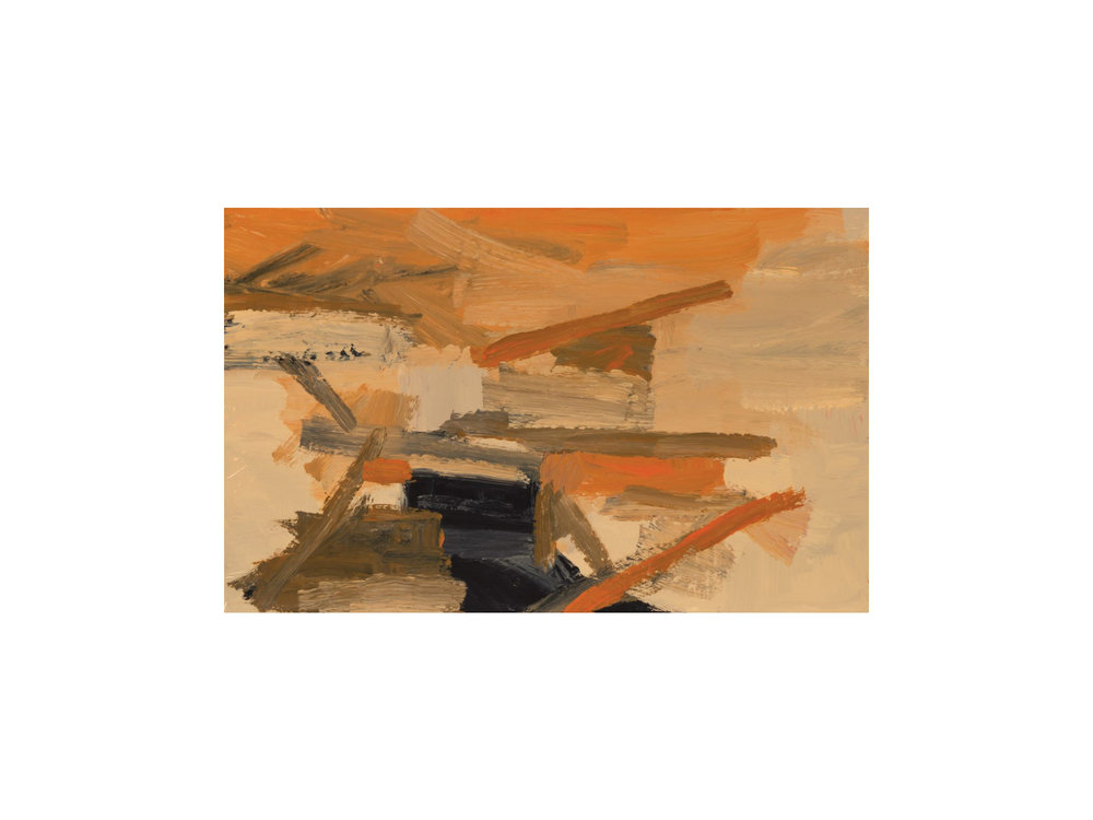 "James Claydon   ""Canal"", 2016, enamel on board, 24 x 38 cm   ARTIST BIO"