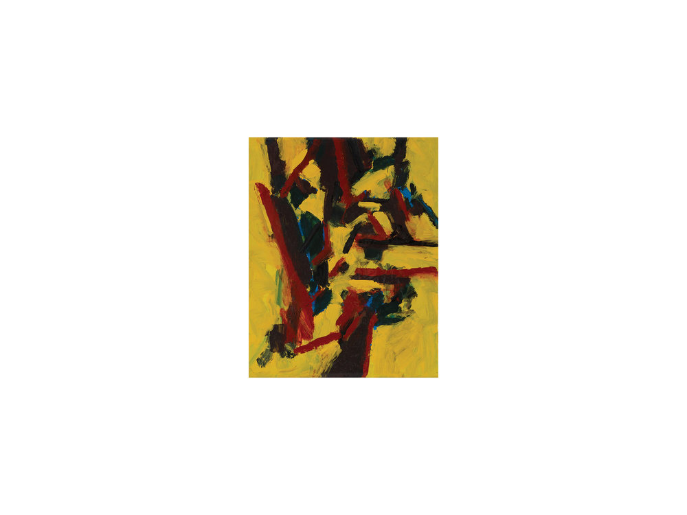 "James Claydon   ""Path"", 2016, enamel on canvas, 25 x 20 cm   ARTIST BIO"