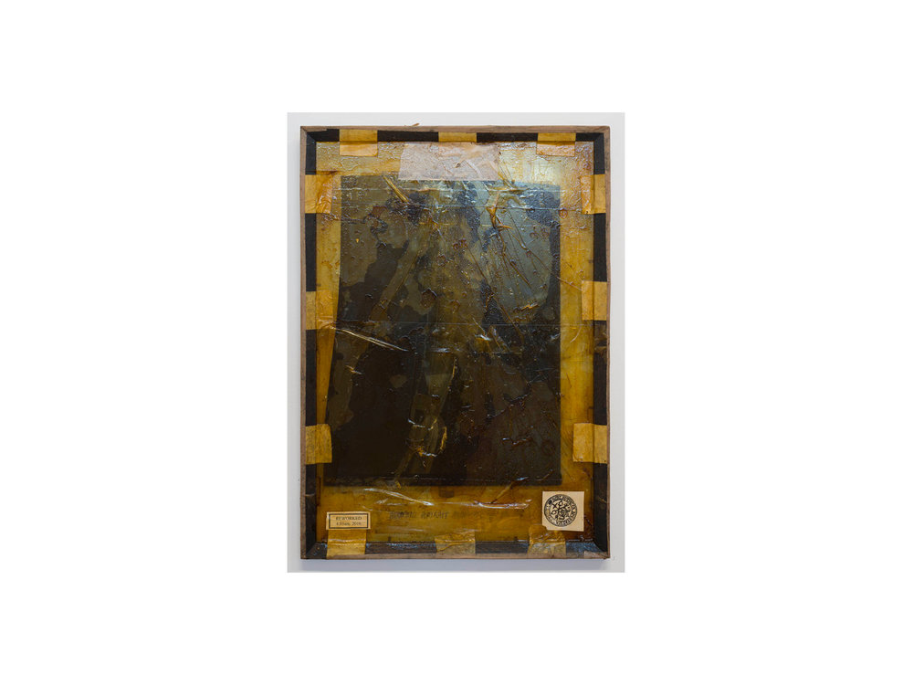Bernhard Sachs   Agnostic Portrait , 2016 mixed media on framed glass 64 x 44cm   ARTIST BIO
