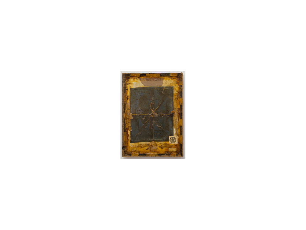 Bernhard Sachs   Untitled (Weltsinneslust) , 2016 mixed media on card and framed glass 64 x 44cm   ARTIST BIO