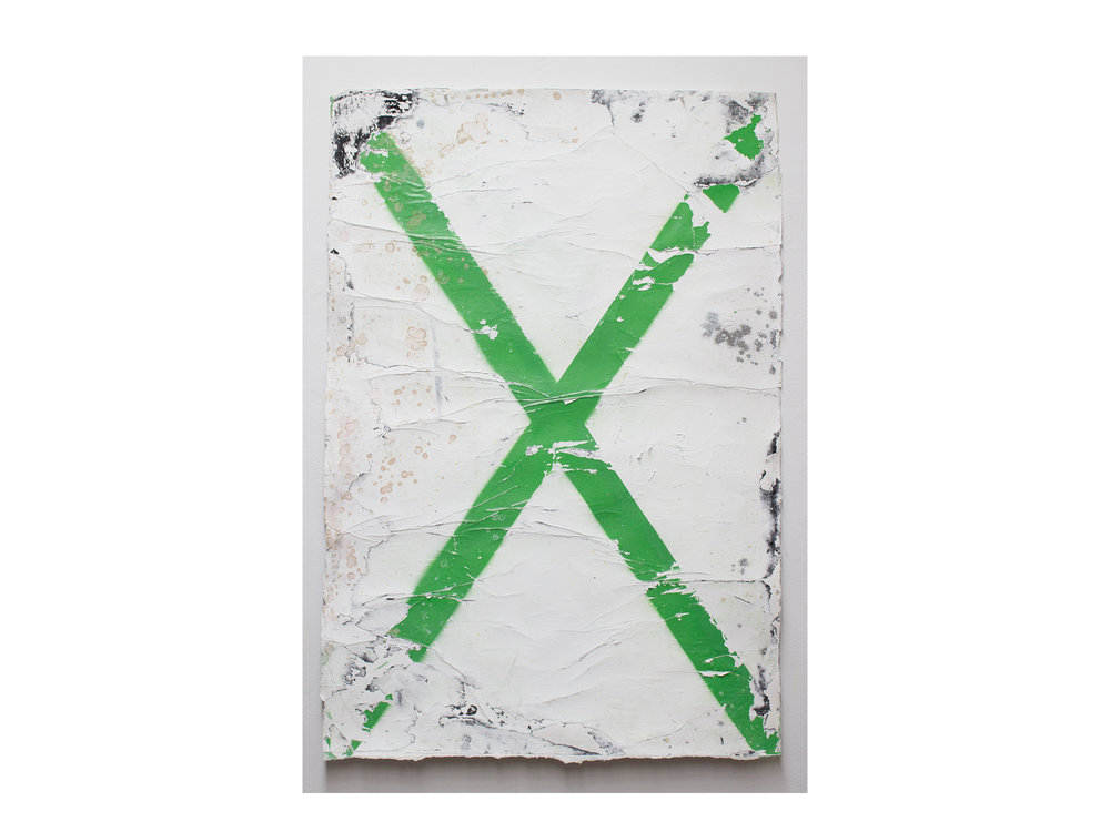 Brett McMahon   Taman Bahagia 2 , 2017 gesso, acrylic and enamel on paper 150 x 102cm   ARTIST BIO