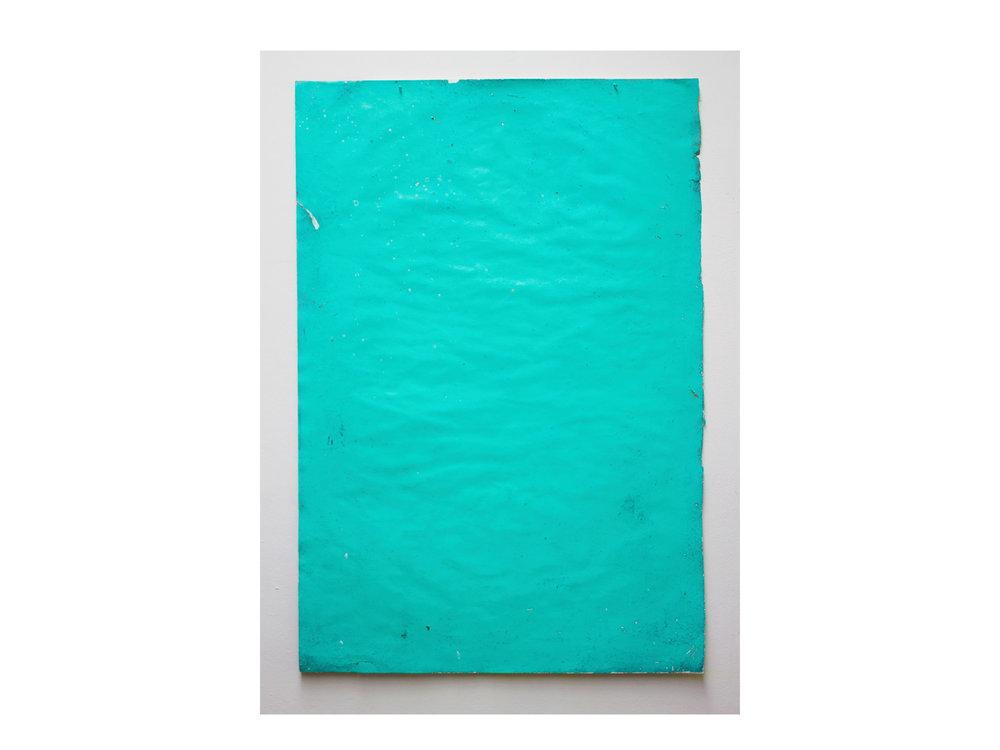 Brett McMahon   Taman Bahagia 4 , 2017 gesso, acrylic and enamel on paper 150 x 102cm   ARTIST BIO