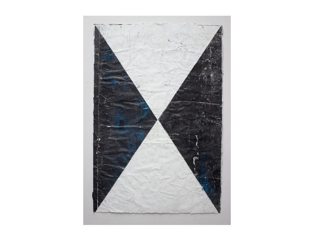 Brett McMahon   T  aman Bahagia 6 , 2017 gesso, acrylic and enamel on paper 150 x 102cm   ARTIST BIO
