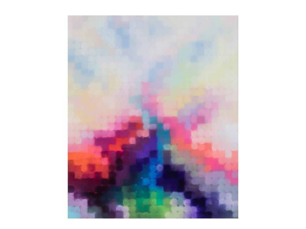 Matthew Johnson   Purlieu Illume I (Geomancy) , 2017 oil on linen 180 x 150cm   ARTIST BIO