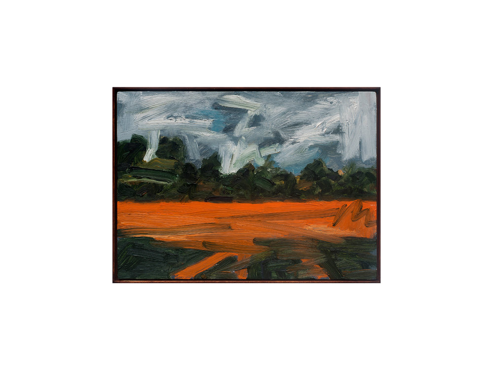 James Clayden   Landscape , 2015 oil on board 25 x 35cm   ARTIST BIO
